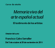 Memoria viva del arte español actual El testimonio de los artistas